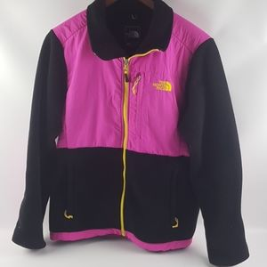 North face large neon retro hit pink jacket